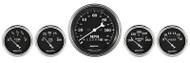 Auto Meter Old Tyme Black 5 pc Gauge Kit 1740