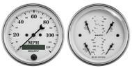 Auto Meter Old-Tyme White 2 pc Gauge Set 1600