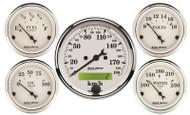 Auto Meter Old Tyme White 5 pc Gauge Kit Metric, 1602-M
