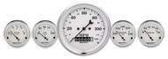 Auto Meter Old Tyme White 5 pc Gauge Kit 1640