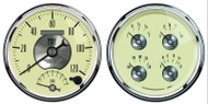 Auto Meter Prestige Antique Ivory 2 pc gauge kit - 2004