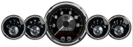 Auto Meter Prestige Black Diamond 5 Gauge Kit with GPS Speedometer - 2024