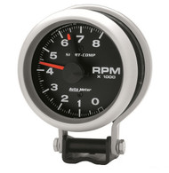 "Auto Meter Sport-Comp 3-3/4"" Pedestal Tach Gauge with red line 3780"