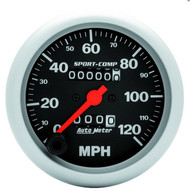 "Auto Meter 3-3/8"" Speedometer 0-120 MPH Mechanical 3992"