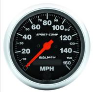 "Auto Meter Sport-Comp 3-3/8"" Speedometer 0-160 MPH Electric 3988"