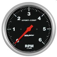 "Auto Meter 5"" In Dash Tachometer Gauge 0-6000 RPM - 3997"