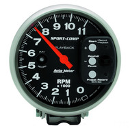 "Auto Meter Sport Comp 5"" Pedestal Playback Tach Gauge 3967"