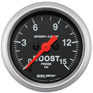 "Auto Meter Sport-Comp 2-1/16"" Boost Gauge, Digital Stepper Motor - 3350"