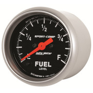 "Auto Meter Sport-Comp 2-1/16"" Fuel Level Gauge, Programmable 0-280 Ω, Stepper Motor - 3310"