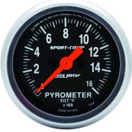"Auto Meter Sport-Comp 2-1/16"" Pyrometer Gauge 0-1600 °F, Stepper Motor - 3344"