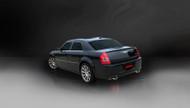 "Corsa 14440 Xtreme Polished Single 4.0"" Dual Rear Cat-Back for 2005-2010 Dodge Magnum SRT-8 No Towing Hitch 6.1L V8"