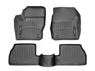 WeatherTech 2013-2016 Ford Focus ST Laser Measured Black Front & Rear Seat Floor Liners  446461-440752 - WeatherTech