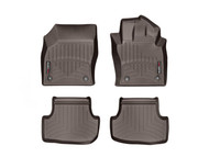 WeatherTech 2015-2017 Ford Mustang EcoBoost Laser Measured Cocoa Front & Rear Seat Floor Liners  47699-1-2 - WeatherTech