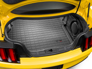 WeatherTech 2015-2017 Ford Mustang GT Laser Measured Black Cargo Liner With Shaker System 40829 - WeatherTech