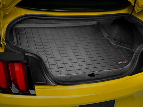 WeatherTech 2015-2017 Ford Mustang GT Laser Measured Black Cargo Liner Without Shaker 40727 - WeatherTech