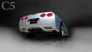 "Corsa 14111BLK Sport Black Twin 3.5"" Dual Rear Axle-Back for 1997-2004 Chevy Corvette C5 Z06  5.7L V8"