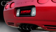 "Corsa 14139BLK Sport Black Tigershark 3.5"" Dual Rear Axle-Back for 1997-2004 Chevy Corvette C5  5.7L V8"