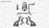 "Corsa 14886 Sport Polished Twin 4.5"" Dual Rear Cat-Back for 2012-2014 Cadillac Escalade    6.2L V8"