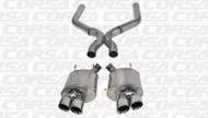 "Corsa 14323 Sport Polished Twin 4.0"" Dual Rear Axle-Back + X-Pipe for 2013-2014 Ford Mustang Shelby GT500  5.8L V8"