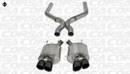 "Corsa 14323BLK Sport Black Twin 4.0"" Dual Rear Axle-Back + X-Pipe for 2013-2014 Ford Mustang Shelby GT500  5.8L V8"