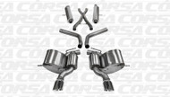 "Corsa 14466 Sport Polished Single 4.5"" Dual Rear Cat-Back for 2014-2017 Jeep Grand Cherokee SRT  6.4L V8"