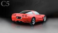 "Corsa 14114BLK Xtreme Black Twin 3.5"" Dual Rear Cat-Back + X-Pipe for 1997-2004 Chevy Corvette C5  5.7L V8"