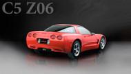 "Corsa 14962BLK Xtreme Black Twin 4.0"" Dual Rear Cat-Back + X-Pipe for 1997-2004 Chevy Corvette C5  5.7L V8"