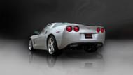 "Corsa 14108BLK Sport Black Twin 3.5"" Dual Rear Axle-Back for 2009-2013 Chevy Corvette C6  6.2L V8"