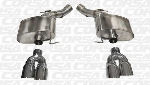 """Corsa 14934 Sport Polished Twin 4.0"""" Dual Rear Axle-Back for 2012-2016 BMW M5 F10"""