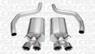 "Corsa 14164 Sport Polished Twin 4.0"" Dual Rear Axle-Back for 2006-2013 Chevy Corvette C6 ZR1  6.2L V8"