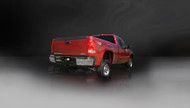"Corsa 24796 Sport Polished Single 4.0"" Single Side Cat-Back for 2011-2013 Chevy Silverado 2500 Extended Cab-Long Bed 6.0L V8"