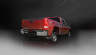 "Corsa 14792 Sport Polished Twin 4.0"" Single Side Cat-Back for 2011-2013 GMC Sierra 2500 Extended Cab-Standard Bed 6.0L V8"