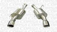 """Corsa 14314 Xtreme Polished Single 4.0"""" Dual Rear Axle-Back for 2005-2010 Ford Mustang Shelby GT500  5.4L V8"""