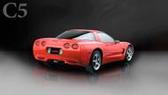 "Corsa 14132BLK Xtreme Black Twin 3.5"" Dual Rear Axle-Back for 1997-2004 Chevy Corvette C5  5.7L V8"