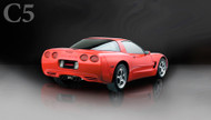 "Corsa 14132BLK Xtreme Black Twin 3.5"" Dual Rear Axle-Back for 1997-2004 Chevy Corvette C5 Z06  5.7L V8"