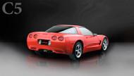 "Corsa 14961BLK Xtreme Black Twin 4.0"" Dual Rear Axle-Back for 1997-2004 Chevy Corvette C5  5.7L V8"
