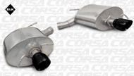 "Corsa 14948BLK Sport Black Single 3.5"" Dual Rear Axle-Back for 2011-2014 Cadillac CTS V Wagon 6.2L V8"