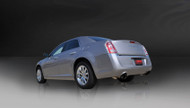 "Corsa 14439BLK Xtreme Black Single 3.5"" Dual Rear Cat-Back for 2005-2010 Chrysler 300  No Towing Hitch 5.7L V8"