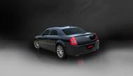 "Corsa 14440BLK Xtreme Black Single 4.0"" Dual Rear Cat-Back for 2005-2010 Chrysler 300   6.1L V8"
