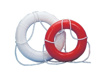 "Life Ring Buoy 20"" White Dock Edge Hard Shell - 686-55221F"
