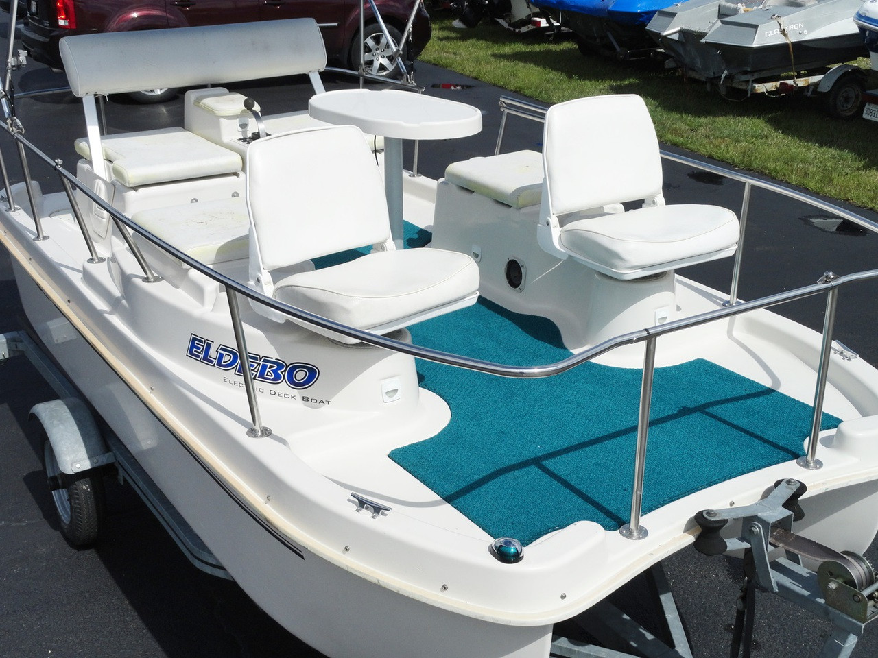 Used eldebo electric pontoon deck boat 2002 for Electric outboard boat motors reviews