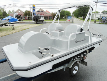 Paddle Wheeler 4-Seat Pedal Boat - Silver