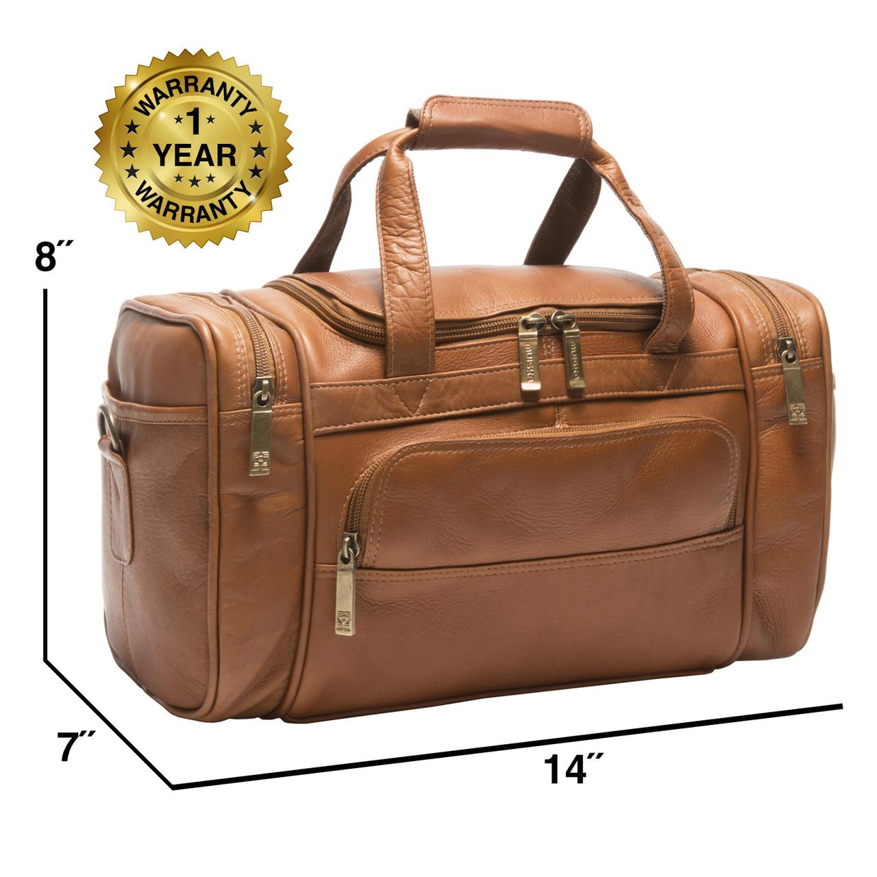 14-inch Small Sport Leather Duffel Bag | Marco by Muiska