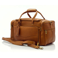 Hugo - 20in Carry On Duffel Bag - Front View, Saddle