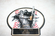 """Baseball 3D Plaque  7.25"""" X 5.25"""" Can hang on wall or sit on desk."""