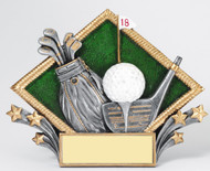 "Golf 3D Plaque 7.25"" X 5.25"" Can hang on wall or sit on desk."