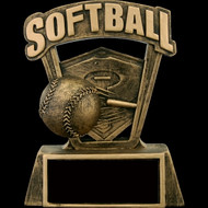 "Softball 3D Plaque 6."" X 5."""