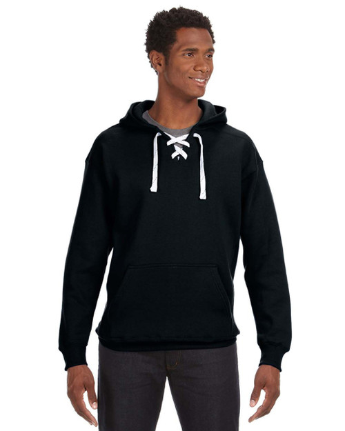 Black  Printed on the back Sport-Tek®  •	 9-ounce, 65/35 ring spun combed cotton/poly fleece