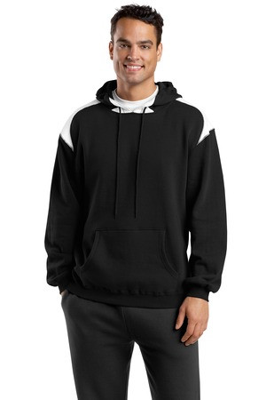 Black Sport-Tek®  9-ounce, 65/35 ring spun combed cotton/poly fleece  Design printed on back Personalization on left Chest optional Name / number example Jones #24