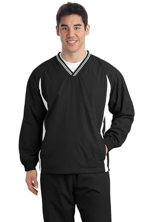 Black Sport-Tek® 100% polyester jersey lining with mesh insets at gussets for added breathability  Design printed on back Personalization on left Chest optional Name / number example Jones #24